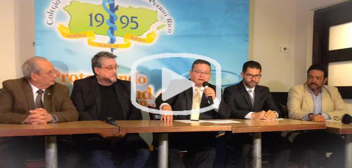 Conferencia de prensa del Colegio de Médicos Cirujanos de Puerto Rico