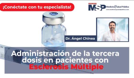 Administración de la tercera dosis en pacientes con Esclerosis múltiple